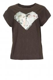 ba&sh |  T-shirt with imprint Vadim | black  | Picture 1