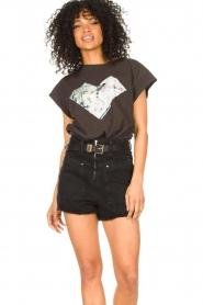 ba&sh |  T-shirt with imprint Vadim | black  | Picture 4