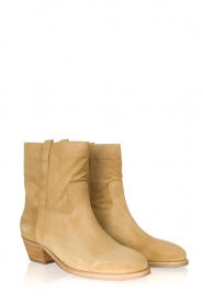 ba&sh |  Suede ankle boot Chester | beige  | Picture 4
