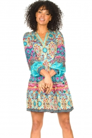 Hale Bob |  Stretch dress Oona | blue  | Picture 5