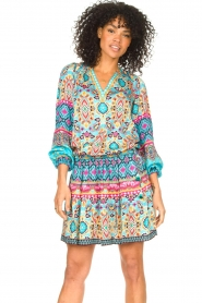 Hale Bob |  Stretch dress Oona | blue  | Picture 2