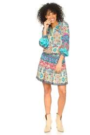 Hale Bob |  Stretch dress Oona | blue  | Picture 3