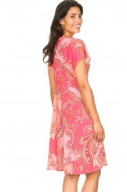 Hale Bob |  Midi dress with lowered sleeves Barbara | pink  | Picture 7
