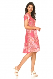 Hale Bob |  Midi dress with lowered sleeves Barbara | pink  | Picture 4