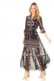 Hale Bob |  Maxi dress with print Points of view | black  | Picture 4