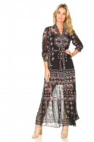 Hale Bob |  Maxi dress with print Points of view | black  | Picture 2