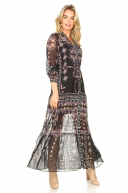 Hale Bob |  Maxi dress with print Points of view | black  | Picture 3