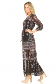 Hale Bob |  Maxi dress with print Points of view | black  | Picture 5