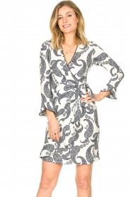 Hale Bob |  Dress with paisley print Waves | white  | Picture 2