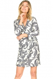 Hale Bob |  Dress with paisley print Waves | white  | Picture 4