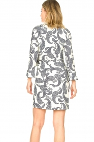 Hale Bob |  Dress with paisley print Waves | white  | Picture 7