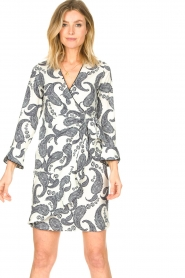 Hale Bob |  Dress with paisley print Waves | white  | Picture 5