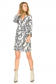 Hale Bob |  Dress with paisley print Waves | white  | Picture 3
