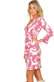 Hale Bob |  Dress with paisley print Waves | pink  | Picture 5