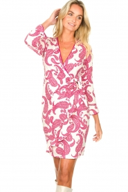 Hale Bob |  Dress with paisley print Waves | pink  | Picture 4
