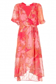 Hale Bob |  Midi dress with print Chelsea | pink  | Picture 1