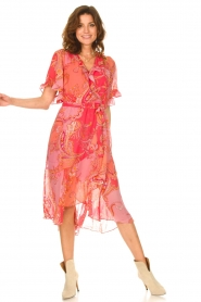 Hale Bob |  Midi dress with print Chelsea | pink  | Picture 3