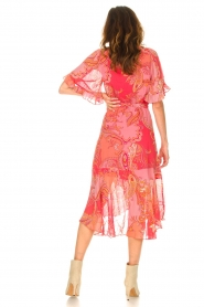 Hale Bob |  Midi dress with print Chelsea | pink  | Picture 5