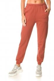 American Vintage |  Cotton sweatpants Feryway | red brown  | Picture 3