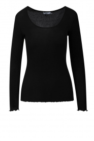 CC Heart |  Silk T-shirt Cala | black  | Picture 1