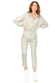 American Vintage |  Cotton jogging jumpsuit Oming | grey  | Picture 3