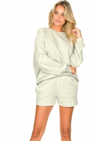 American Vintage |  Cotton jogger shorts Feryway | green  | Picture 4
