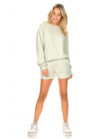 American Vintage |  Cotton jogger shorts Feryway | green  | Picture 3