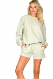 American Vintage |  Cotton jogger shorts Feryway | green  | Picture 2