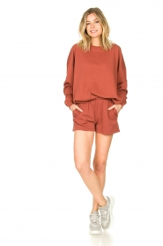 American Vintage :  Cotton jogger shorts Feryway | red - img3