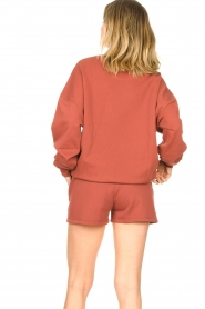American Vintage :  Cotton jogger shorts Feryway | red - img6