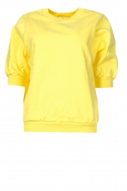 American Vintage |  Sweater with short puff sleeves Wititi | yellow  | Picture 1