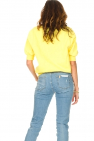 American Vintage |  Sweater with short puff sleeves Wititi | yellow  | Picture 6