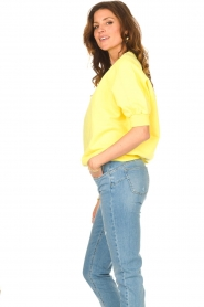 American Vintage |  Sweater with short puff sleeves Wititi | yellow  | Picture 5
