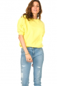 American Vintage |  Sweater with short puff sleeves Wititi | yellow  | Picture 4