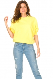 American Vintage |  Sweater with short puff sleeves Wititi | yellow  | Picture 2