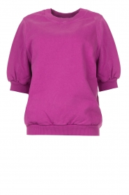 American Vintage |  Sweater with short puff sleeves Wititi | purple  | Picture 1