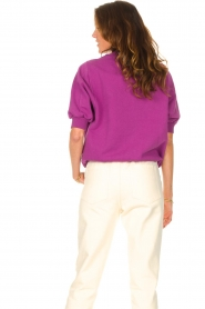 American Vintage |  Sweater with short puff sleeves Wititi | purple  | Picture 7
