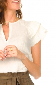 Second Female |  Top with open detail Mallorca | white  | Picture 7