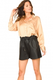 American Vintage |  Oversized blouse acetate Widland | nude  | Picture 2