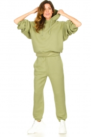American Vintage |  Sweatpants with drawstring Ikatown | green  | Picture 2