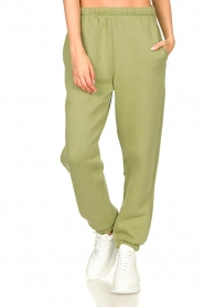 American Vintage |  Sweatpants with drawstring Ikatown | green  | Picture 4