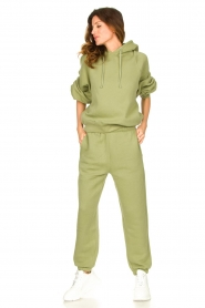 American Vintage |  Sweatpants with drawstring Ikatown | green  | Picture 3