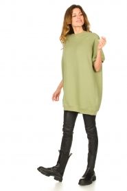 American Vintage |  Tunic sweater Ikatown | green  | Picture 3