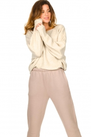 American Vintage |  Sweater with dropped sleeves Damsville | natural  | Picture 2