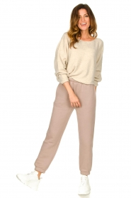 American Vintage |  Sweater with dropped sleeves Damsville | natural  | Picture 3