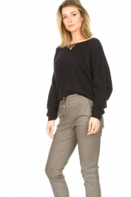 American Vintage |  Knitted sweater Damsville | black  | Picture 6