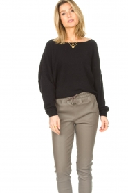 American Vintage |  Knitted sweater Damsville | black  | Picture 5