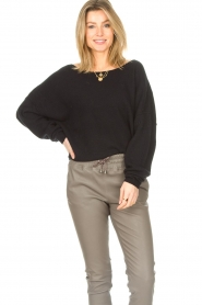 American Vintage |  Knitted sweater Damsville | black  | Picture 2