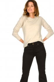 American Vintage |  Knitted slim fit sweater Damsville | natural  | Picture 5