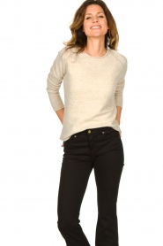 American Vintage |  Knitted slim fit sweater Damsville | natural  | Picture 4